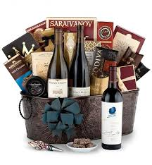 gift baskets with wine opus one wine gift basket luxury wine baskets a luxury