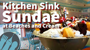 New DFB Video The Kitchen Sinks At Disneys Beaches And Cream - Kitchen sink ice cream sundae