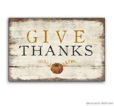 give thanks wooden sign rustic vintage pumpkin fall signs