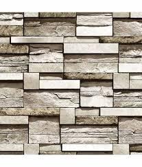 buy wallpaper studio brown bricks wallpaper online at low price in