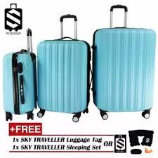 ultra light luggage sets sky traveller sky284 big stripe 3 in 1 ultralight luggage set
