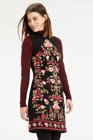 oasis floral embroidered dress lyst