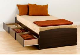 Box Bed Frame With Drawers Bedframe With Storage Rustic Bedroom Furniture With White Ash