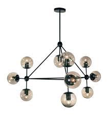 Black Chandelier Lamps Dainolite Dmi 4410c Bk Domi 10 Light 44 Inch Matte Black