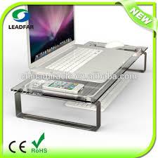 crystal desktop perspex laptop computer stand computer standing