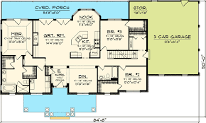 floor plans for 3 bedroom ranch homes 3 bedroom rambling ranch 89821ah craftsman northwest ranch