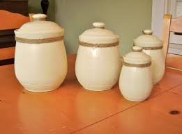 Orange Kitchen Canisters by Riparata Spray Painting Ceramic My New Kitchen Canisters