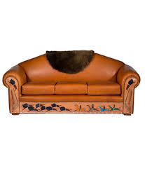 Painting A Leather Sofa Native American Sofa With Painted Buffalo Hunt
