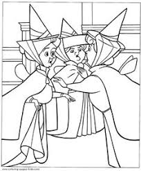 sleeping beauty color disney coloring pages color plate