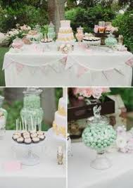 Pink And Gold Dessert Table by Sweet Simplicity Bakery Pink Mint Green Ivory And Gold Baby