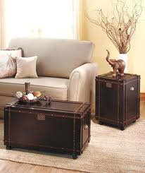 trunk style side table trunk style end tables new rolling classic steamer trunk chest