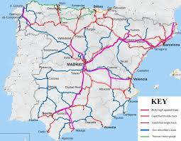 Tarragona Spain Map by Railways In Spain About Spain Net