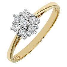 18 carat diamond ring naava 18ct yellow gold 25pt diamond ring co uk