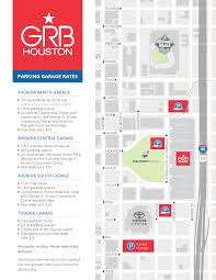 downtown houston parking maps grb convention center