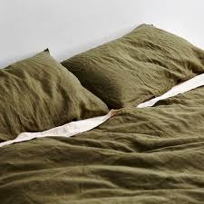 Linen Bed Moss Duvet Set 100 Linen Duvet Set In Moss In Bed Store