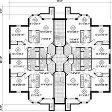 contemporary 4 unit apartment house plan multi family house plan