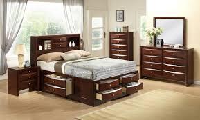Gaylon Bedroom Set Ashley Furniture Crown Mark Furniture Emily Captain U0027s Bedroom Set In Rich Cherry