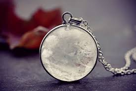 silver crystal ball necklace images Pool of light necklace large rock quartz fog ice orb crystal ball jpg