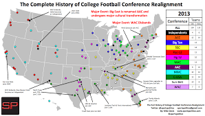Louisiana Tech Map by Visual Tool To Understand 1981 2017 Conference Realignment