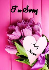 sorry cards pink bunch of flowers sorry card