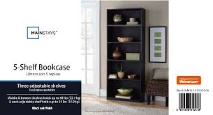 5 shelf bookcase black best shower collection