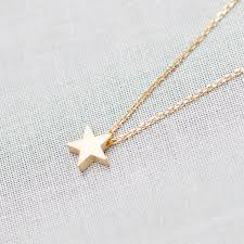 necklace pendant star images Tiny star pendant necklace in gold on luulla jpg