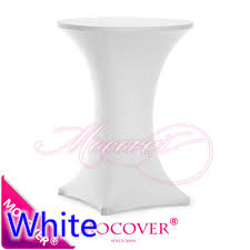Spandex Table Cover Aliexpress Com Buy White Colour Spandex Table Cover Cocktail