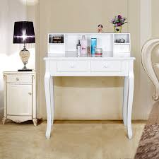 Wall Office Desk by Songmics Wall Fixed White Dressing Table For Office Desk Writing