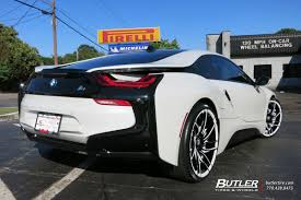 Bmw I8 Exhaust - bmw i8 with 22in savini sv62c wheels exclusively from butler tires