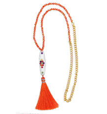 accessories chain necklace images Esmeralda lambert orange white tassel crystal gold chain necklace jpg
