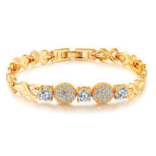 bracelet chain gold images Fashion bracelet gold hand chain fashion new gold design crystal jpg