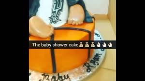 spurs baby shower cake youtube