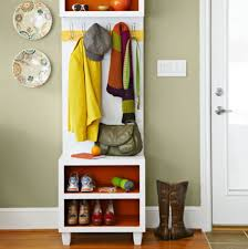 narrow coat rack storage idea for small interior space