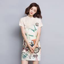 aliexpress com buy chinese traditional printed cheongsam
