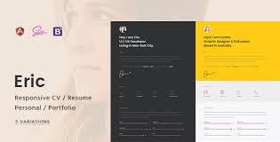 personal portfolio template eric responsive cv resume personal portfolio template