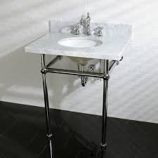 kingston brass console sink kingston brass vintage carrara marble 30 inch console sink and metal
