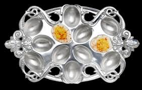 deviled egg holder arthur court designs fleur de lis deviled egg holder