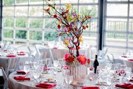 gorgeous manzanita wedding reception centerpieces in the chateau