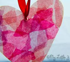 milk bottle stained glass hearts kids craft room