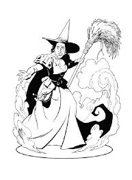 wicked witch of the west from the wizard of oz coloring page