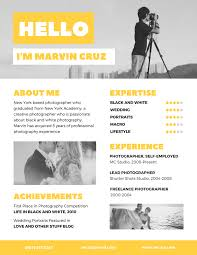 freelance photographer resume sample make an enduring first impression on hirers with a bold and image11