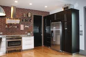 kitchen style hardwood flooring open shelves industrial hanging