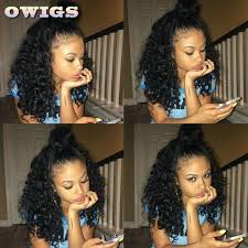 owigs hair extensions owigs high ponytail lace wigs curly peruvian