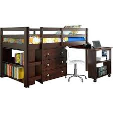 roll out computer desk roll out desk brad brown low loft w roll out desk and storage pocket