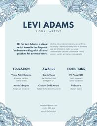 What Is A Visual Resume Creative Resume Templates Canva