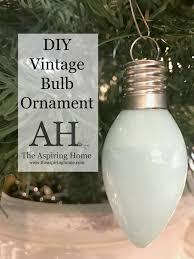 5 diy steps to create a custom vintage bulb ornament the aspiring home