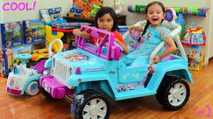 blue barbie jeep power wheels disney frozen power ride on jeep wrangler walk