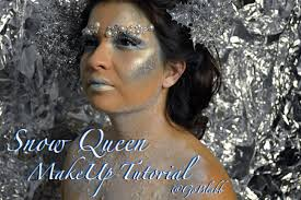 halloween makeup tutorial snow queen youtube