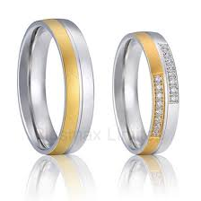 titanium wedding band sets made silver color surgical steel titanium engagement wedding rings