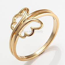 cheap gold rings images Jewelry 10k yellow gold filled women 39 s pretty engagement ring gift jpg